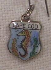 Vintage REU Sterling/Enamel Cape Cod, Massachusetts Seahorse Bracelet Charm New