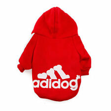 Adidog Pet Dog Casual Clothes Warm Hoodie Coat Jacket Apparel For Dog Clothing