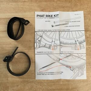 New Kuat Phat Bike Kit For Use W/ NV and Transfer Racks Rear Tire Strap Extender