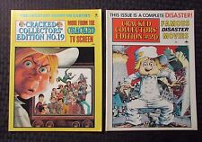 1977 CRACKED Collector's Edition Magazine #19 FN+ #20 FVF Dell Humor LOT of 2