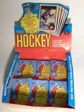 EMPTY Display Box w 6 EMPTY WAX PACK wrappers 1984-85 OPC Hockey Wax NO CARDS