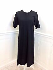 Area OPENING CEREMONY Black Embossed Knit Tunic Dress with Side Slit size S