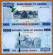 Rwanda, 1000 (1,000) Francs, 2015, Pick New, New security Features UNC > Monkey