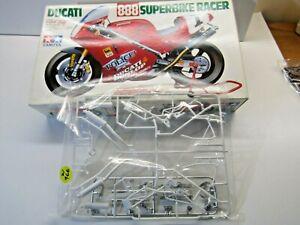 "Tamiya 1:12 Scale Ducati 888 Superbike Racer Sprue ""C"" White & 'D' Chrome Parts"