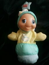 """Vintage 1998 Playskool Gloworm 5770 Light Toy Glo Worm Glow Worm 9"""" nylon puffy"""