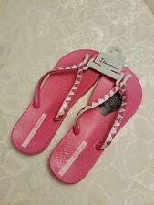 NEW Ipanema Flip Flops Pink Metallic Size UK7 EU40 Moulded Comfy Soles