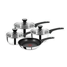 Jamie Oliver Tefal 4pc Stainless Steel Pan Set ( Induction Compatible )