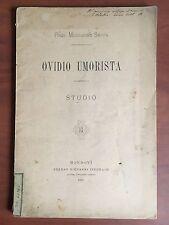 Brossura Ovidio umorista Studio Prof. Mercurino Sappa 1889 - E22390