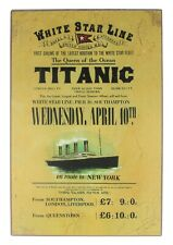Titanic Rates Medium Vintage Wooden Sign 200mm x 300mm (sg)