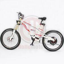 White 48V 1500W Mustang Mountain Ebike+48V18Ah Li-ion Battery Electric Bicycle