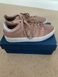 KSwiss Rose Gold And Silver Trainers Size 6