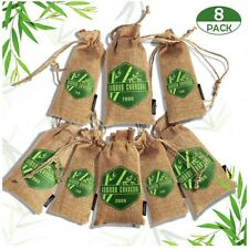 Lovcoyo Bamboo Charcoal Air Purifying Bags 8 Pc Reusable Activated Odor Absorb