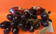 New EZ-CLIP Eyeglasses Magnetic Clip-On Sunglasses Antique Gold Color Free Case