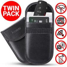 2X New Car Key Keyless Entry Fob Signal Guard Blocker Black Genuine Faraday Bag