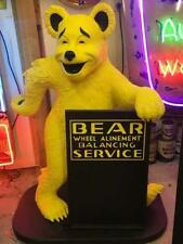 "52"" Bear Alignment Advertising Bear Statue W/ Sign *Gas & Oil"