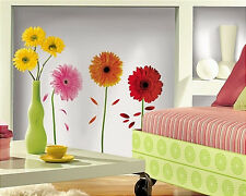 GERBER DAISIES wall stickers 8 big flower decals daisy room decor
