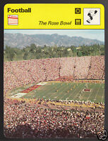 THE ROSE BOWL Football Stadium Bowl Games USC NCAA 1977 SPORTSCASTER CARD 09-22A