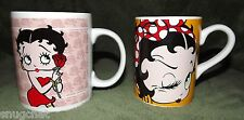 Lot of 2 Betty Boop Coffee Tea Mugs Cups King Features Syndicate 2005 and 1991