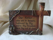 HD33 OUR FATHER WHO ART IN HEAVEN PLAQUE -HANGS OR SITS