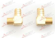 "2PCS 3/4"" Male 90 Elbow Brass Hose Barbs Barb To 1/2"" NPT Pipe Male Thread"