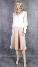 New PETER MARTIN Cream & Brown Dress Size 12 Ladies Wedding Mother of the Bride