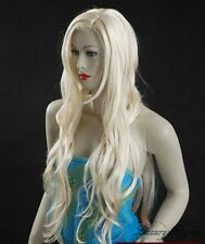 "40"" Hand Made Wavy Light Blonde Hair Wigs 84#613"