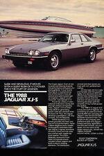 1988 Jaguar XJ-S - Classic Vintage Advertisement Ad D71