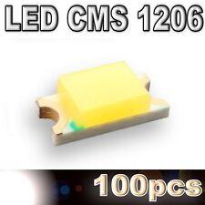 169/100# LED CMS 1206 blanche 600mcd -SMD white -100pcs