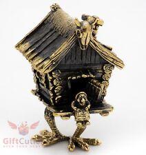 Solid Brass Figurine Magic Hut on Fowl's Legs Baba Yaga house IronWork