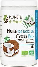 Huile De Coco Vierge Bio 1L (1000ml)Pressé Pressé à Froid Pure Biologique Noix