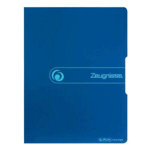 herlitz Sichtbuch blau mit 20 Hüllen Zeugnismappe Zeugnis Mappe easy orga to go!