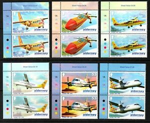Alderney Stamps 2008 SG A349-A354 Anniv of Aurigny Air Services Pairs Mint MNH