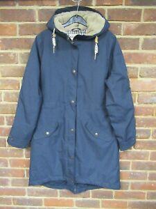 Seasalt Plant Hunter Navy Blue Coat Waterproof & Breathable Size UK 12 [2674]