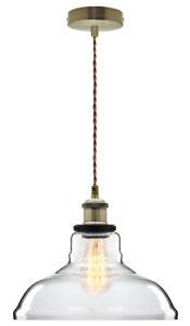 Vintage Glass Shade Chandelier Pendant Ceiling Club Pub Restaurant Diner Light