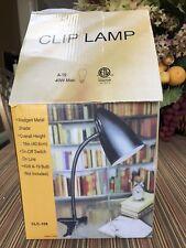 CLIP LAMP NIB Never Used Black Metal Light For Office, Bedroom, College Dorm Etc