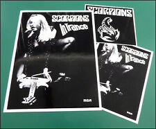 THE SCORPIONS, Set of 3 Large Glossy Vinyl Stickers, In Trance, Logo