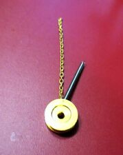 ORIGINAL ATMOS CLOCK MOVEMENT PULLEY WITH CHAIN AND SPRING PARTS 528-8