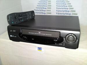 LG VHS VCR AC250I Video Recorder -Auto Head Cleaning- NTSC PB -Icon MENU- SP/LP