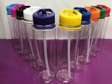 10 x Wholesale Job Lot 800ml Clear Water Drink Bottle Colour Lid Gym Sport Bulk