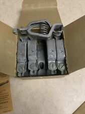 New Listing10x Vintage Mueller Electric 50 Amp Lead Test Clips 21 A Box Of 10 New Clips