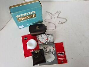 Sangamo Weston Master V Lightmeter, Analogue Meter, VGC, Case, Cone, Instruction