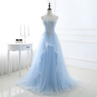 Women Long Tulle/Lace Evening Formal Party Ball Gown Prom Bridesmaid Dress NEW
