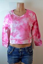 Derek Heart Subtle Cloud Tie Dye Crop Waist Sweater