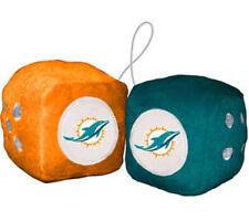 Miami Dolphins Fuzzy Dice NFL Football Team Logo Plush Car Truck Auto