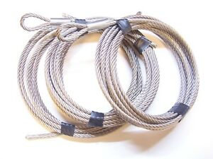 """Ice Castle Winch Replacement Cable Set 1/4"""" Stainless Steel: Single, Tandem Axle"""