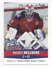 9f7d701210b 2016-17 Hartford Wolf Pack (AHL) Magnus Hellberg (goalie) (SKA