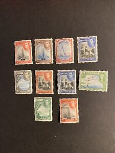 Bermuda 1938 Onwards Part Definitive Set Mounted Mint Or Much Better