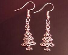 Christmas tree earrings handmade