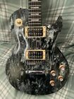 Custom Shop Swirl Les Paul Black Electric Guitar And Gig Bag Made In The UK for sale