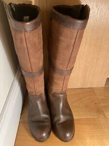 Dubarry Sligo Boots Walnut 6/40 Excellent Condition